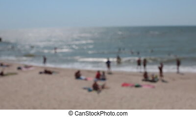 Blurred beach view from the hillock. No focus