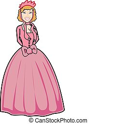 Beautiful Victorian woman clip art - Beautiful southern...