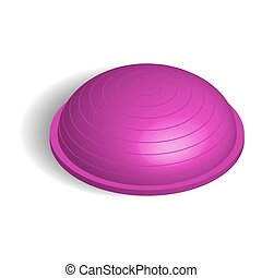 Fitball in 3D isometric style, vector illustration. - Sports...