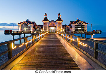 Pier with restaurant in Sellin - Beautiful pier with...