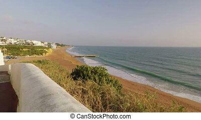 Descent to the sea of the Mariners beach in Albufeira....