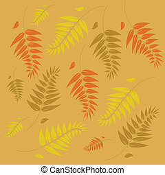 An autumn vector background illustration