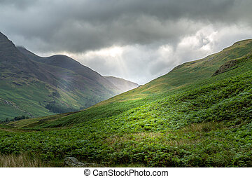 View of Honister Pass, Lake District UK - A landscape view...