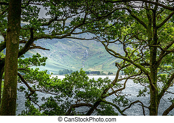 View of Buttermere, Lake District UK - A landscape view of...