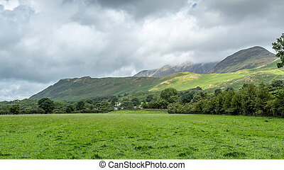 View of the area around Buttermere, Lake District UK - A...