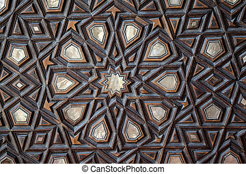 Example of Mother of Pearl inlays - Ottoman art example of...