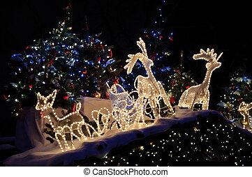 Christmas market in Germany - Christmas Decorations at...