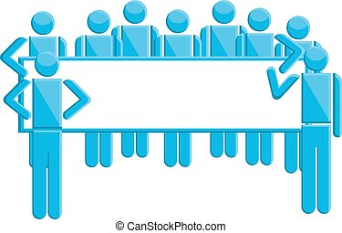 People with business sign symbol, vector