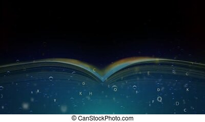 The book is floating under the water. A book of adventures...