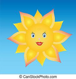 sun, sunflower