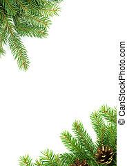 Christmas framework - Christmas green framework isolated on...