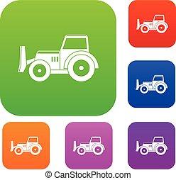 Skid steer loader set color collection - Skid steer loader...