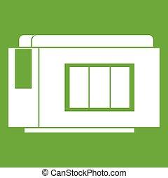 Inkjet printer cartridge icon green - Inkjet printer...