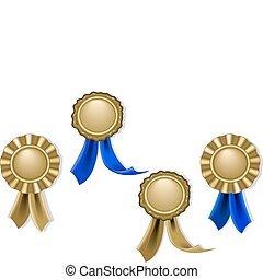 Blank seals and medals in gold