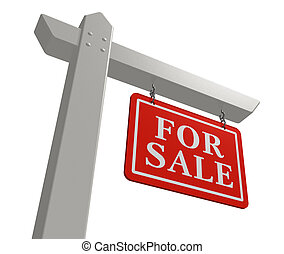quot;For salequot; real estate sign - For sale real estate...
