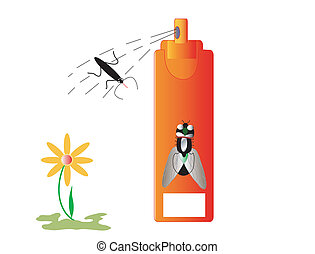 Insecticide insects and repellent, white place for text,...