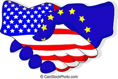 US-EU Handshake