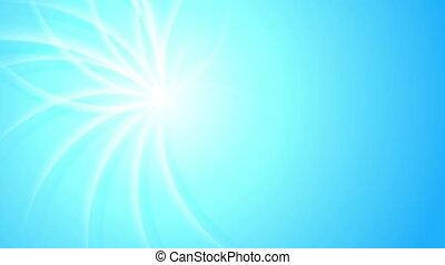 Blue shiny swirl beams abstract video animation - Blue shiny...