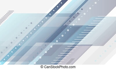 Blue and grey abstract tech minimal video animation - Blue...