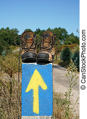 Pilgrimage on the Camino de Santiago trail, Spain - Broken...