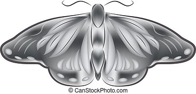 Moth - Vector illustration of moth