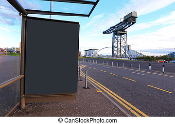 billboard in the road - billboard in the glasgow for your...