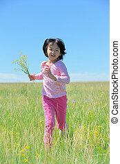 Asian kid running