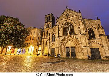 St. Pierre Church in Bordeaux. Bordeaux, Nouvelle-Aquitaine,...
