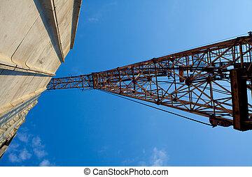Building crane - Large construction crane Ventral view