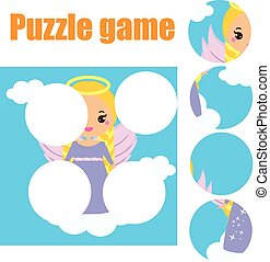 Puzzle for toddlers. Matching children educational game....