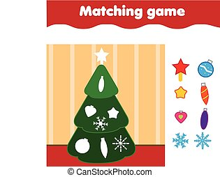 Matching children educational game. Match by shape kids...