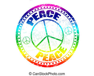 Peace stamp, vector illustration