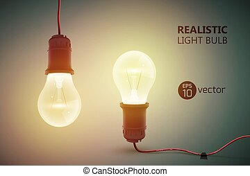 Hanging Incandescent Lamps Background - Creative template...
