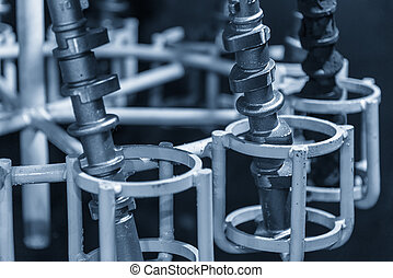 The camshaft casting parts in cleaning process.Automobile...