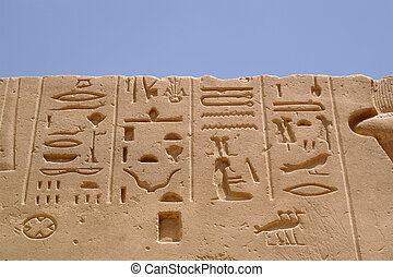 Egypt signs 10 - Egypt hieroglyphics in Luxor
