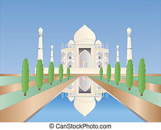 Taj Mahal - illustration of the Taj Mahal in india