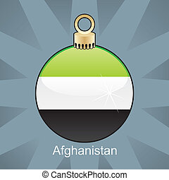 Afghanistan flag in christmas bulb