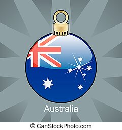 australia flag in christmas bulb
