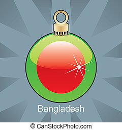 Bangladesh flag in christmas bulb