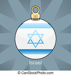 Israel flag in christmas bulb