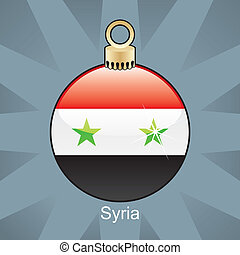 Syria flag in christmas bulb - fully editable vector...