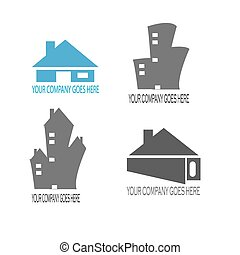 home and building construction logo compilation vector