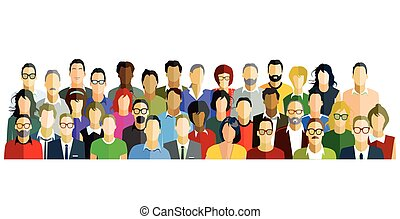 Personen-Gruppe-.eps - People Participate Group Illustration