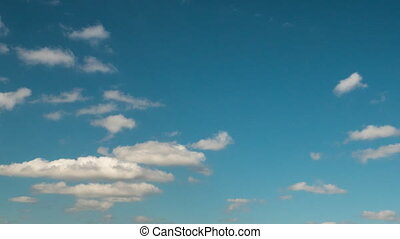 Blue sky with ragged clouds time laps HD - Autumn sky,...