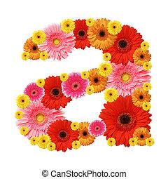 alphabet - a, flower alphabet