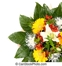 bouquet - beautiful bouquet of flowers, isolated