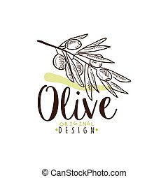 An Image of Olive Branch On White background