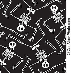 Seamless skeleton pattern - Skeleton pattern. Select all the...