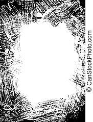 Grunge frame - Frame made by several black brush strokes