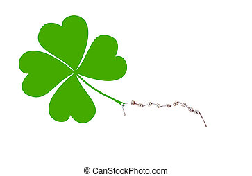 Good Luck - The german words for Good Luck and a cloverleaf...